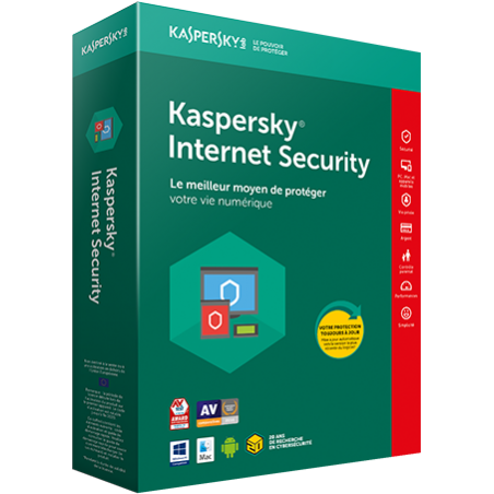 Antivirus Kaspersky internet security, version 1pc, 1an - code par mail